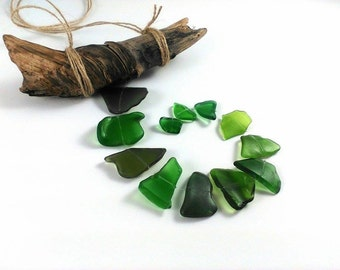 Green sea glass sun catcher