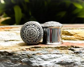 Brass Arabic Tribal Mini Plugs, gauges    1/2, 9/16