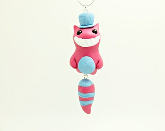 cheshire cat charm necklace