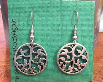 Silver Vine Earrings