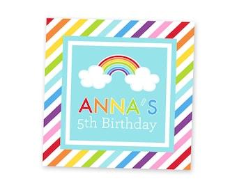 Rainbow Party Favor Tags - Rainbow Birthday Party Favors - Rainbow Party for Kids - Rainbow Party Printables