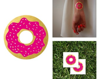 2 PACK Donut Tattoo