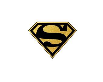 2 PACK Superman Metallic Temporary Tattoo