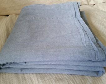 Eddie Bauer Home Chambray Blue Full Flat Sheet