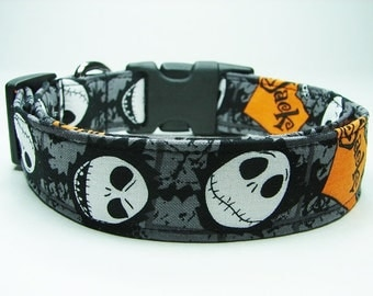 Halloween Nightmare Before Christmas Jack Skellington Dog Collar