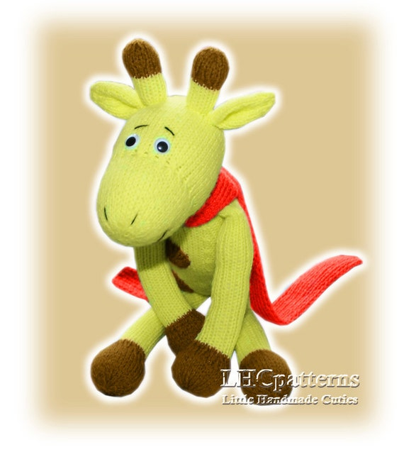 Knitting Pattern Toy Giraffe : Giraffe Knitted Toy Pattern an extremely soft huggable and