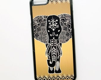 Boho iphone6 case, Elephant iphone6plus, Black Gold  iPhone 5 Case, Samsung Galaxy s4, S5, Case Cover for phone
