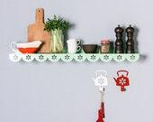 Large Stylish Metal Wall Shelf / Kitchen Shelf / Spice Rack / Dorm Decor Shelf