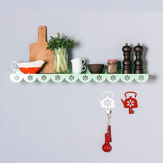 Large Stylish Metal Wall Shelf Kitchen Shelf Spice Rack
