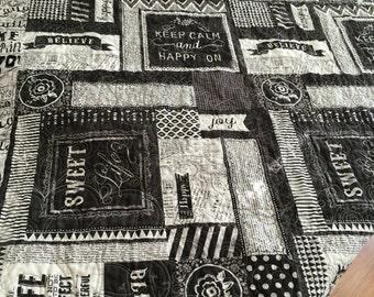 Chalkboard Quilt, lap quilt