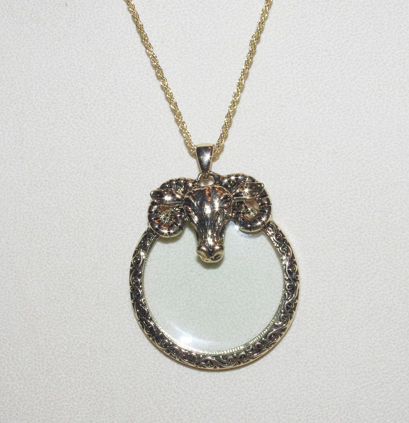 Joan rivers gold tone magnifying glass necklace s1534 for Joan rivers jewelry necklaces
