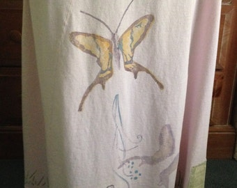 Vintage Blue Fish Long Butterfly Dress