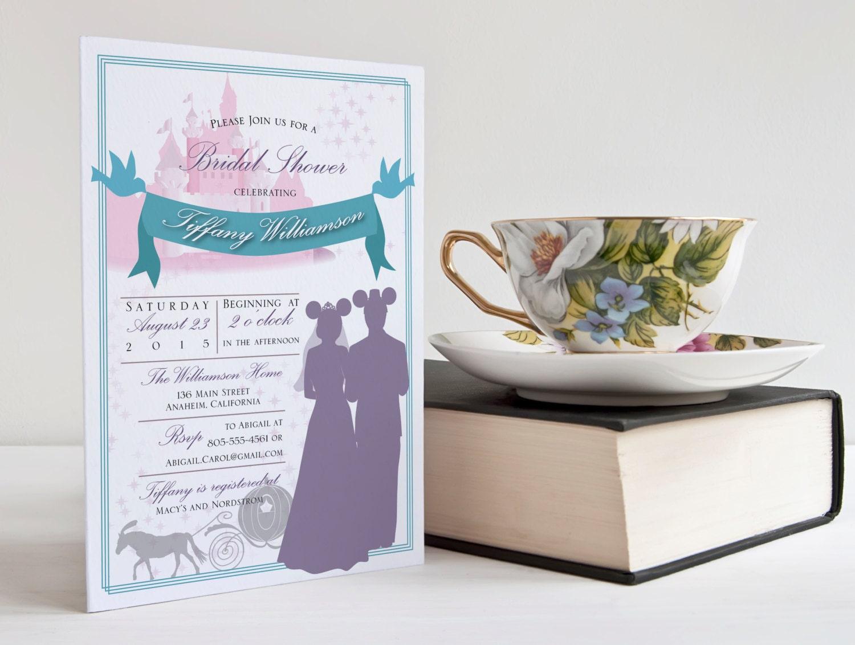 Wedding Invitations Disney: Disney Wedding Or Bridal Shower Invitation Custom Digital