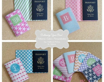 Personalized Passport Cover - Heavy Vinyl with Cardstock Insert - Fits US Passport - You Choose the Colors, Design, & Personalization Style
