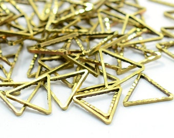 20 Pcs. Raw Brass 12x12 mm Triangular Geometric Findings