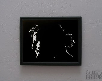 Solid Snake Metal Gear  Hand cut paper art black silhouette paper cutting