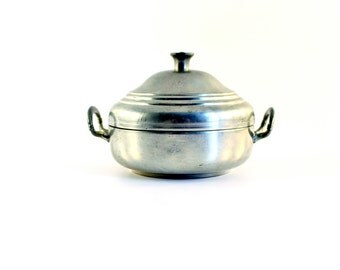 Pewter Bowl with Lid