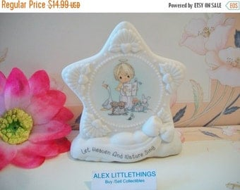 SHOP4FUN Precious Moments Star Plaque 1996 Let Heaven And Nature Sing Christmas Decor