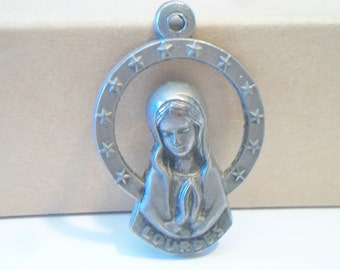 Our Lady of Lourdes Pendant Religious Catholicism Christianity