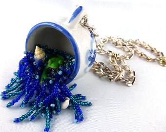 Necklace, Collier, Beadart, Bead Embroidery, Frog