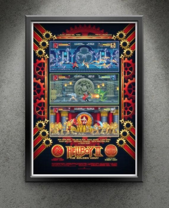 """Hellboy II - """"Arcade Hellfire"""" 13x19"""