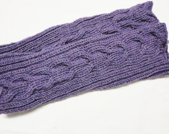 Legwarmers Leg warmers handknitted purple