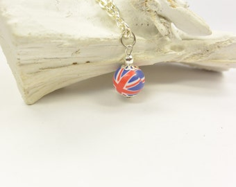 Necklace England Union Jack