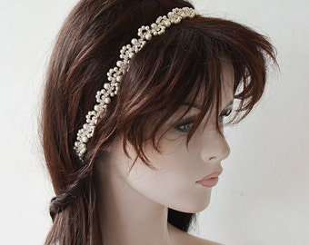 Bridal Pearl Headband, Wedding  Hair Accessories,  Pearl Headpiece, Weddings Hair, Bridal Hair Jewellery