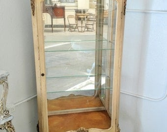 Pick your color - -  Vintage French provincial curio display cabinet