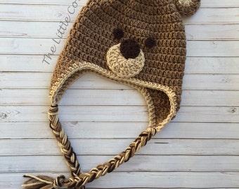 Crochet Bear Hat, Bear Hat, Baby Bear Hat, Crochet Hat, Baby Bear Hat