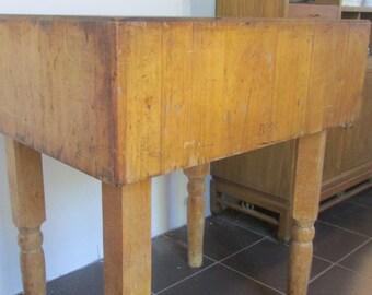 Vintage Boos Butcher Block Table Solid Maple
