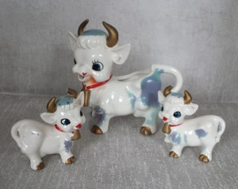 Almost Purple Cow Creamer and Shakers    C