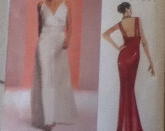 Vogue Couture Evening Gown Pattern 2707  Size 12-16 & 18-22