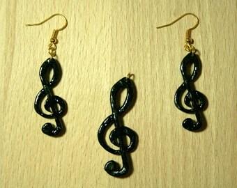 """Jewelry set from ebony ' clef ' """""""
