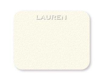 Personalized custom blind embossed stationery {set of 50}