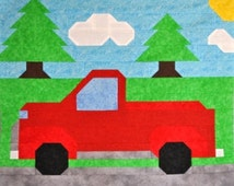 Popular items for truck quilt pattern on Etsy
