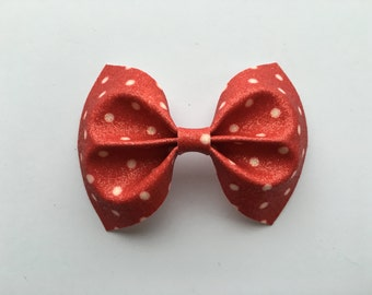 Ruby Red Spot Fine Glitter Bow