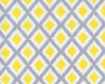 Camelot Cottons - Gray Matters - 4140406 - Diamonds --- Gray and Yellow Diamonds -- Fabric By The Yard