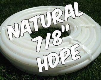 "7/8"" HDPE hula hoop tubing roll - Make your own hoops!  Comes with insert material 50 ft or 100 ft"