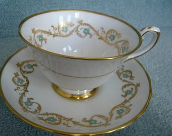 Vintage Tuscan GOLD IMPERIAL teacup and Saucer