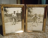 Antique Baseball Photographs 1923 Pitcher & Catcher Vintage Photography