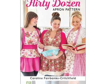 "Pattern ""The Flirty Dozen Apron Pattern"" by Caroline Fairbanks-Critchfield (CTP80075) Paper Pattern"