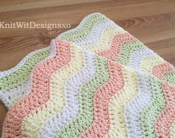 ON SALE! - Summertime Chevron Baby Blanket