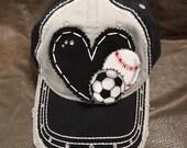 Multi sport baseball softball soccer mom hat