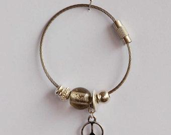 Key ring grey