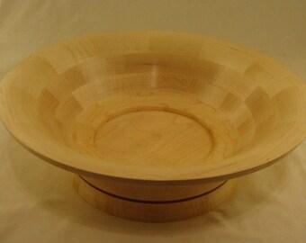Handmade Segmented Curly Maple and Purpleheart bowl  pc#235