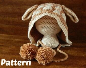 Knit Deer Hat - Finley Fawn Pattern : Knitting Pattern, Knit Toddler Hat, Knit Child Hat