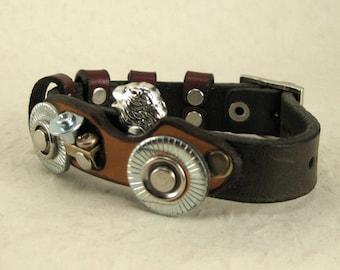 326 Formula 1 Vintage Racing Car Steampunk Burning Man Bracelet Recycled Jewelry Industrial Machine Age