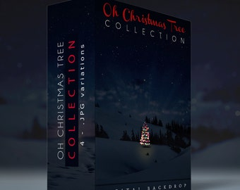 Oh Christmas Tree Digital Backdrop Collection