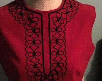 Red Velvet Vintage Dress Joyce Sportswear